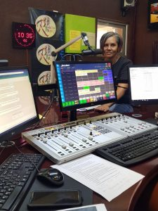 Rainbow FM interview - Hilary Leong-side-view