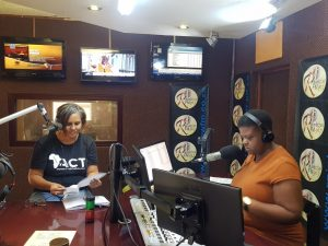Rainbow FM interview - Hilary Leong-with-dj