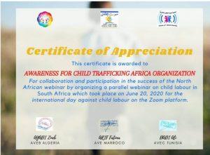 Certification of Appreciation