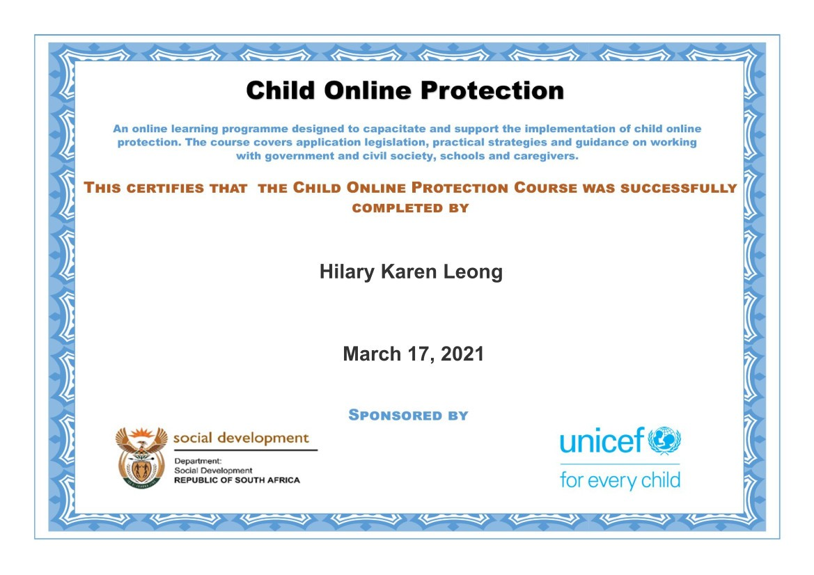 child online protection certificate