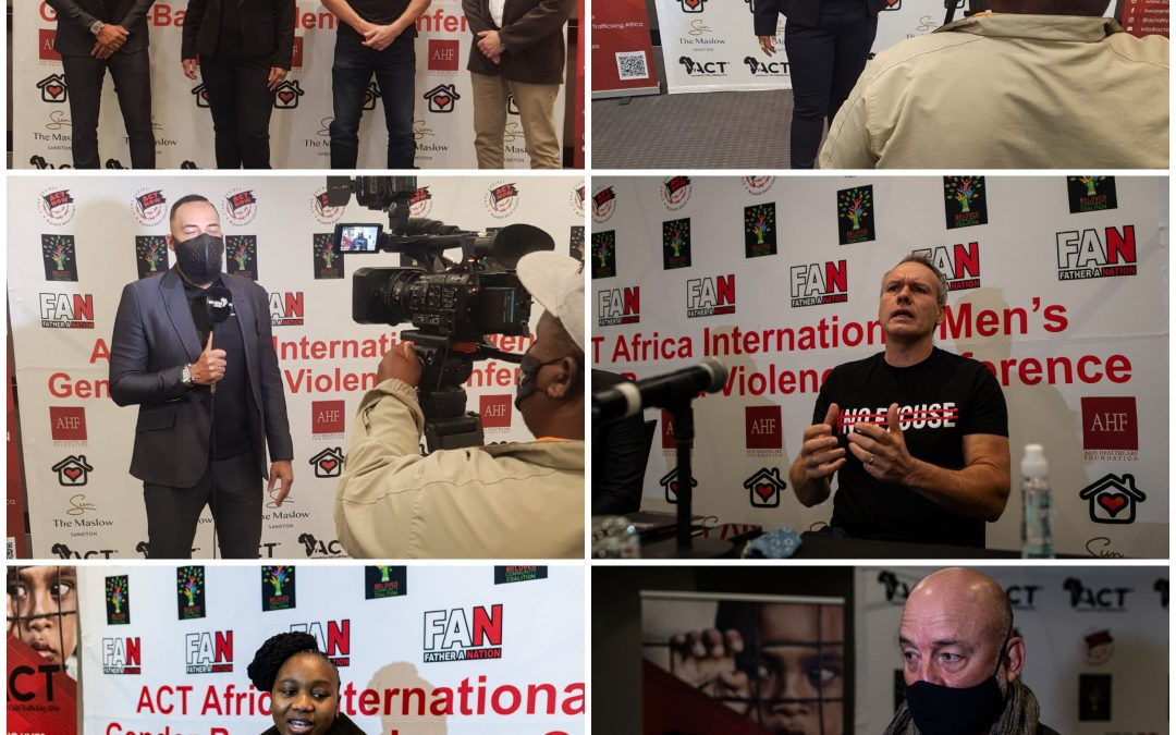 Press Conference Held for Upcoming International Men's GBVF Conference on 14 August 2021